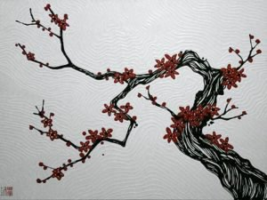 Blue Bird - Plum Blossoms 03 - 120 x 90 - 18