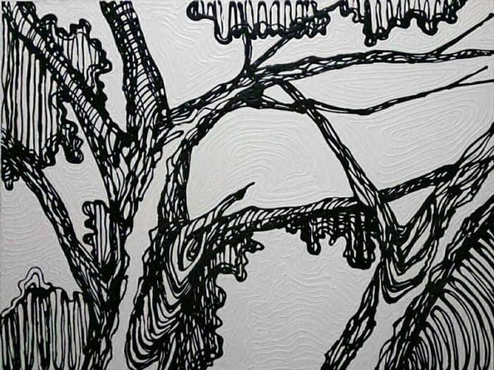 Blue Bird - Tree - 120 x 90 - 15