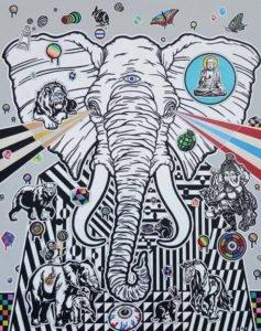 Boat – Elephant – 80 x 100 – 12