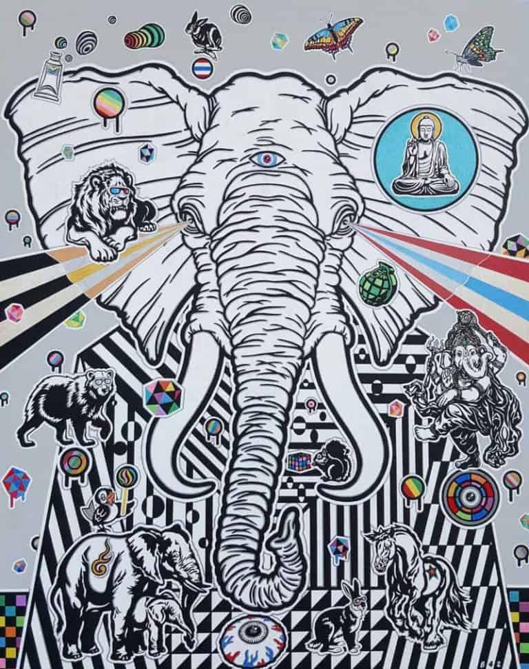 Boat - Elephant - 80 x 100 - 12