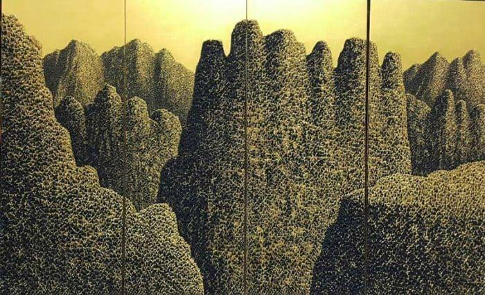 Saenkom - Grand Mountain Gold 02 - 160 x 100 - 30