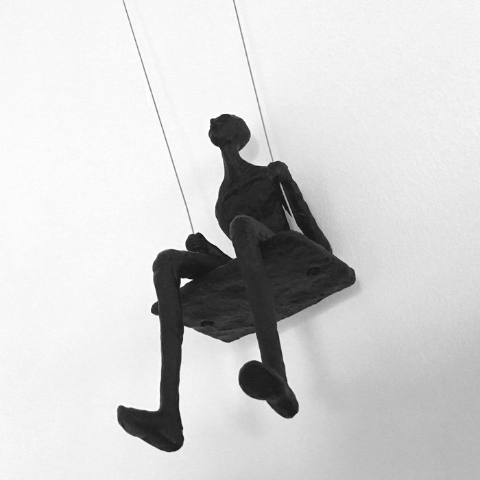Swinging Man Wall Sculpture - Bottom view