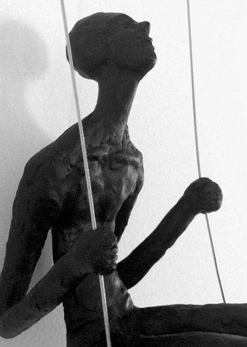 Swinging Man Wall Sculpture - Details