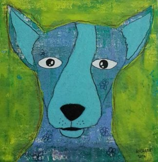 Ja - Blue surprise dog - 20 x 20 - 3-9