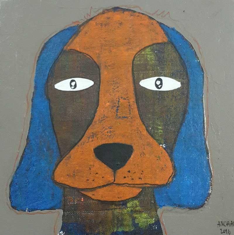 Ja - Duck face dog - 20 x 20 - 3-9