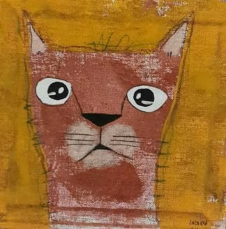Ja - brown amuse cat - 20 x 20 - 3-9