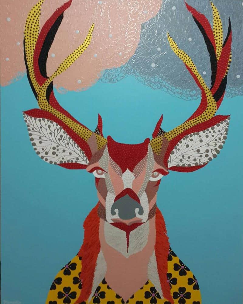 Kamontip - Deer 02 - 120 x 150 - 15