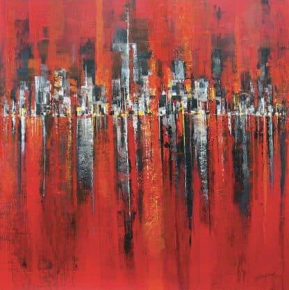 Gittisak - Red Town - 100 x 100 - 12