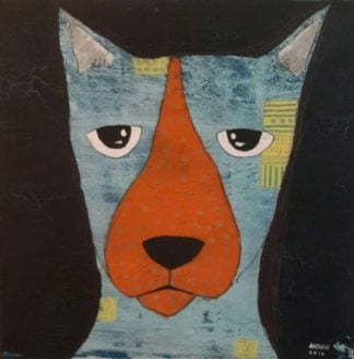 Ja - Bored dog - 40 x 40 - 8