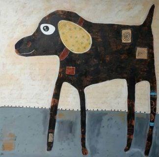 Ja - Long leg dog - 100 x 100 - 23