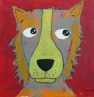 Ja - Lookaway dog - 20 x 20 - 3-9