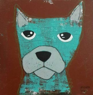 Ja - Serious ocean-green Dog - 20 x 20 - 3-9