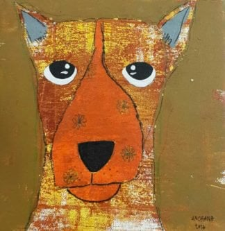 Ja - Serious yellow-brown dog - 20 x 20 - 3-9