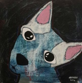 Ja - White and blue chihuahua - 20 x 20 - 3-9