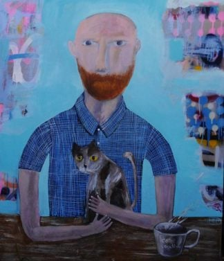 Kitti - Ginger man and a cat - 100 x 120 - 8