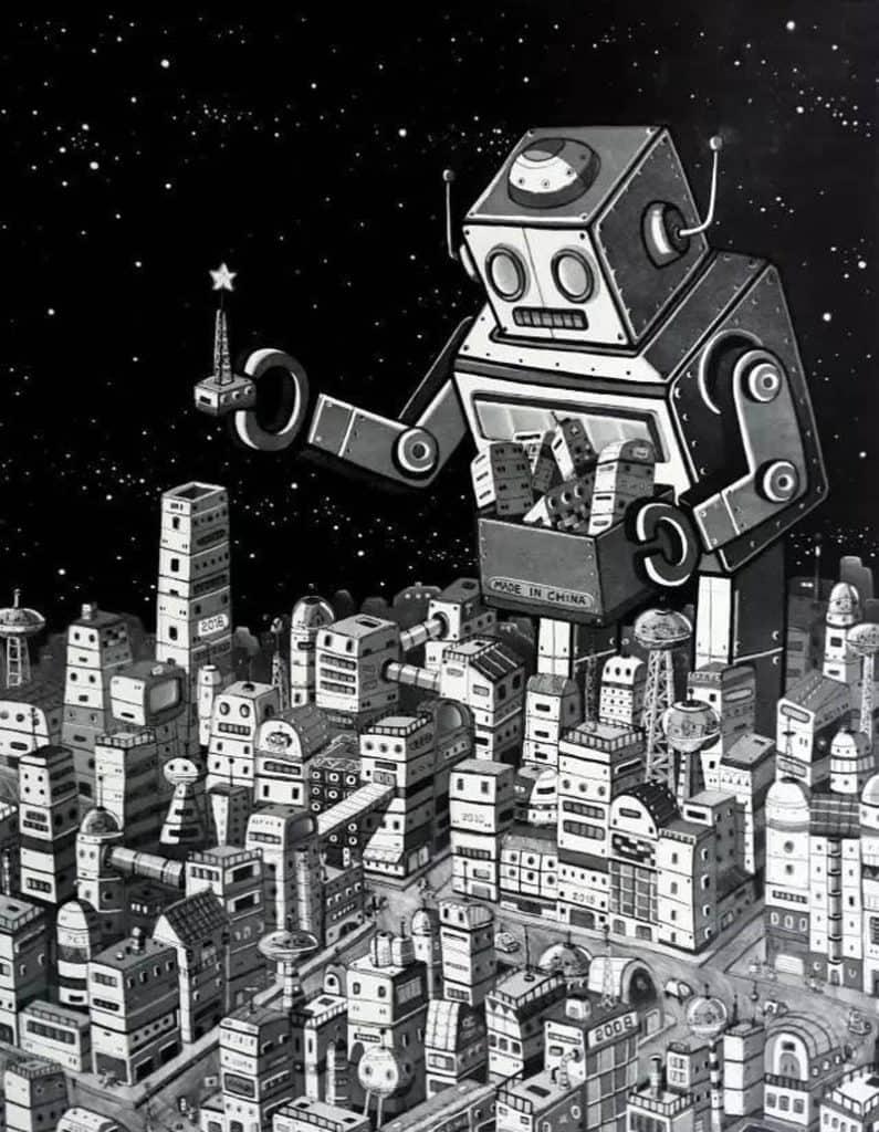 Num - Robots in Urban Life - 80 x 100 - 12