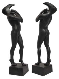 Sculptures for sale - Ath - Birdman - Gen 031 - 19 x 19 x 60 - 4