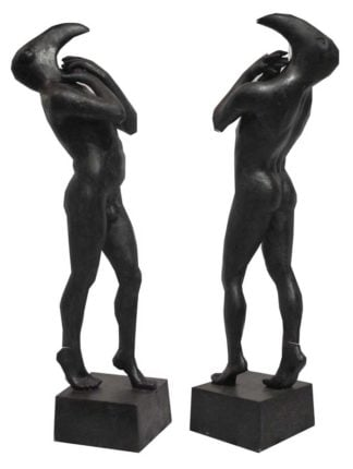 Sculptures for sale - Ath - Birdman - Gen 031 - 19 x 19 x 60 - 4