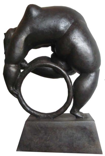 Sculptures for sale - Ath - Lady with a Hoop - Lady 22 - 22 x 36 x 50 - 5-5