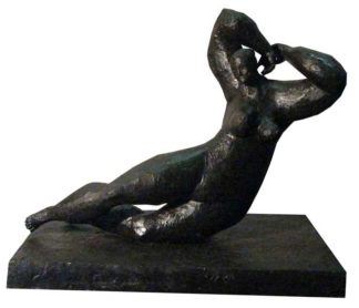 Sculptures for sale - Ath - Lying Lady 02 - Lady 16 - 1 - 38 x 20 x 30 - 3-5
