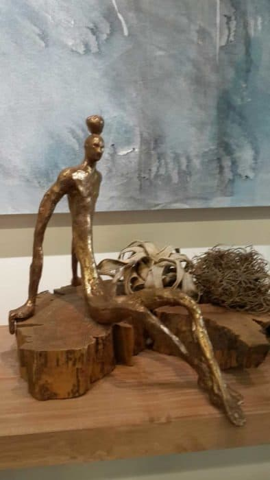Sculptures for sale - Yao - Gold Slim Man - Y 006 - 22 x 38 x 35 - 7-5