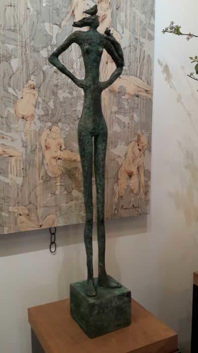 Sculptures for sale - Yao - Slim man 01 - Y 001 - 23 x 12 x 89 - 13