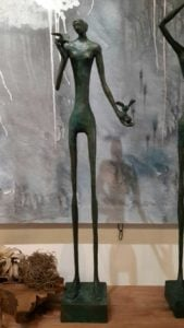 Sculptures for sale - Yao - Slim man 04 - Y 004 - 15 x 12 x 75 - 12