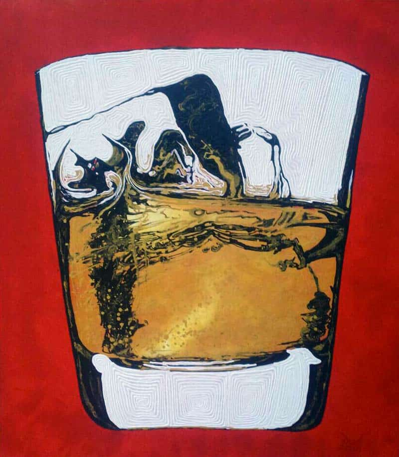 Anuchit - Whiskey on Red - 150 x 170 - 10