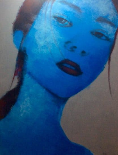 Bird - Blue Woman Portrait - 130 X 170 - 25