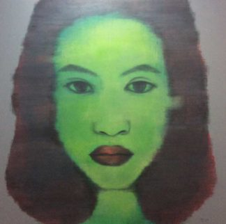 Bird - Green Woman Portrait - 150 X 150 - 25