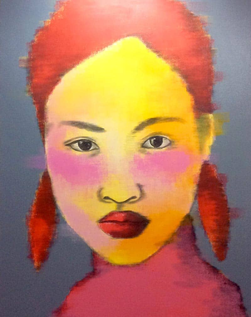 Bird - Red Hair Woman Portrait 01 - 130 X 170 - 25