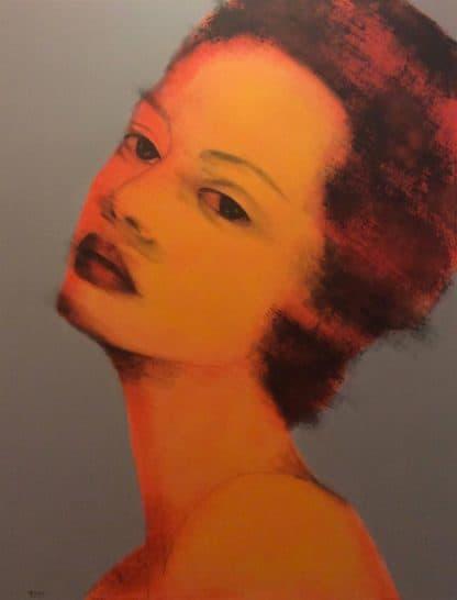 Bird - Tan Woman Portrait - 130 X 170 - 25