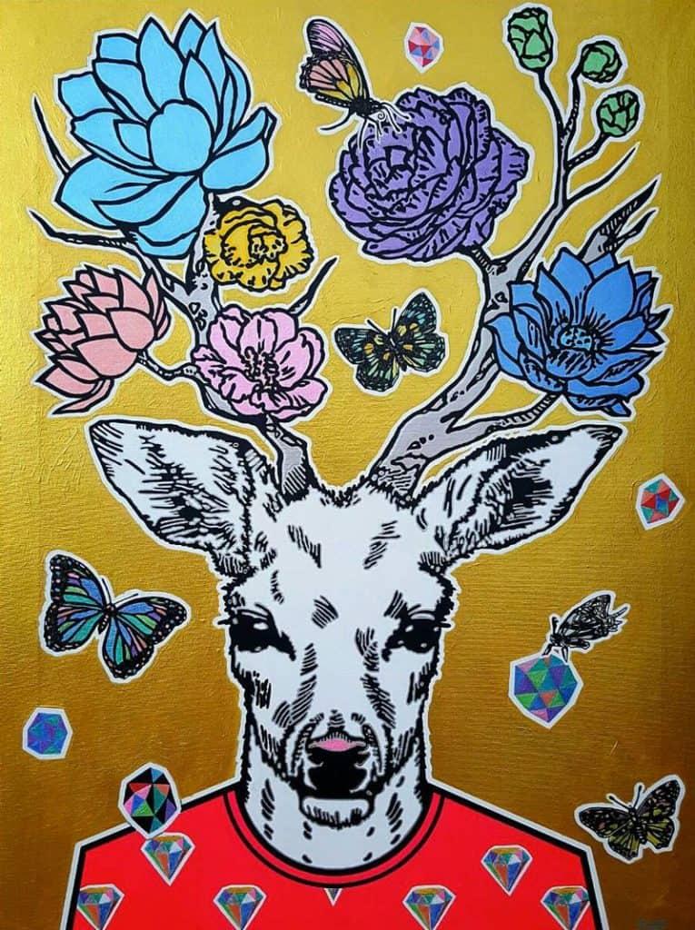 Boat - Deer Deer - 60 x 80 - 7