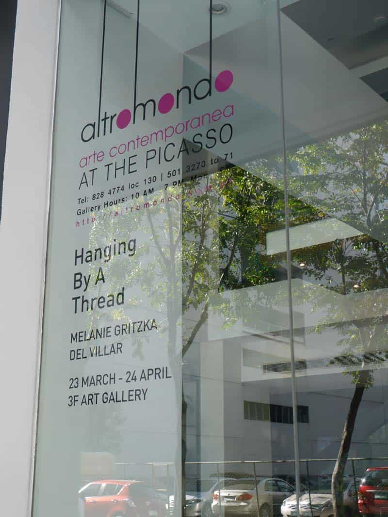 Exhibition - Hanging by a Thread - Melanie Gritzka del Villar 01