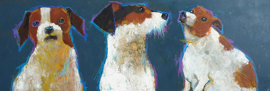 Ja - 3 Dogs Portrait - 175 x 60 - 18