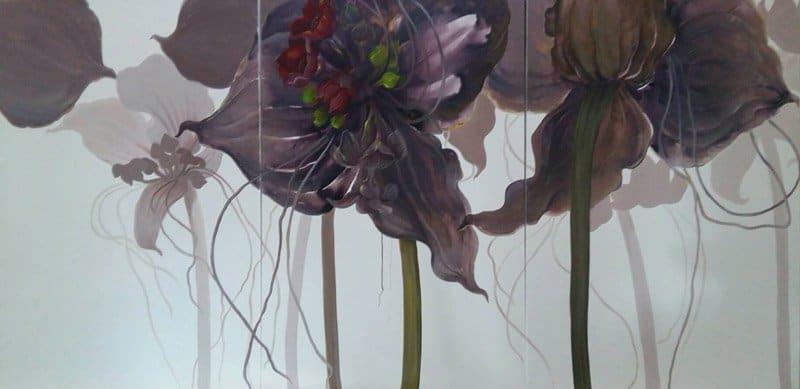 Tor - Triptych Flower 24 - 210 x 100 - 30