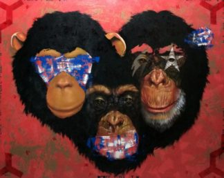 M.CH.R. - 3 Monkeys - 150 x 120 - 25