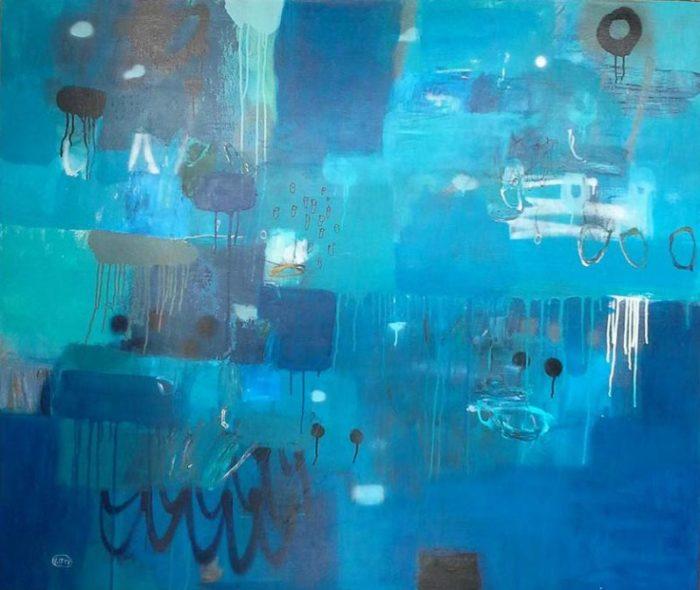 Kitti - Blue Painting - 140 x 120 - 12