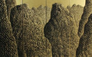 Saenkom Chansrinual - Thai Art - Grand Mountain Gold 04 - 160 x 100 - 30