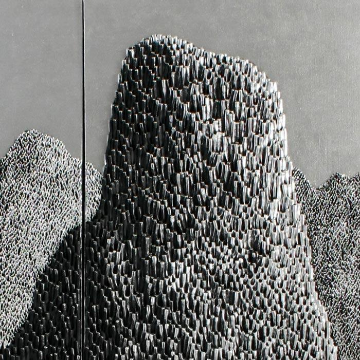 Saenkom Chansrinual - Thai Art - Grand Mountain Silver 04 - 160 x 100 - 30 - 02