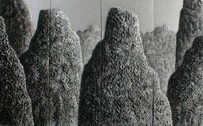 Saenkom Chansrinual - Thai Art - Grand Mountain Silver 04 - 160 x 100 - 30