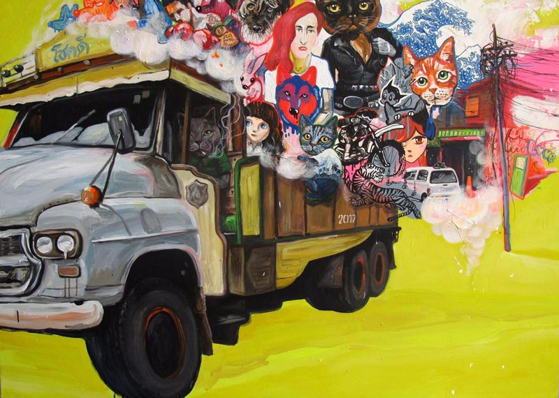 Gee - Truck Me (Mustard) - 140 x 110 - 35