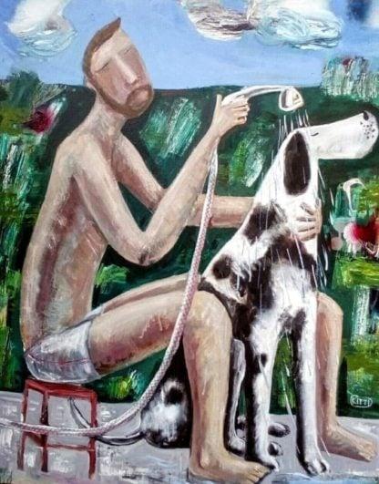 Kitti - Sunday Painting - 80 x 100 - 7-5