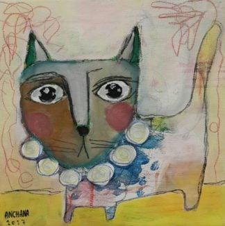 Ja - Circus cat 02 - 25 x 25 - 09
