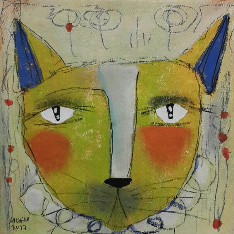 Ja - Circus cat 03 - 25 x 25 - 09