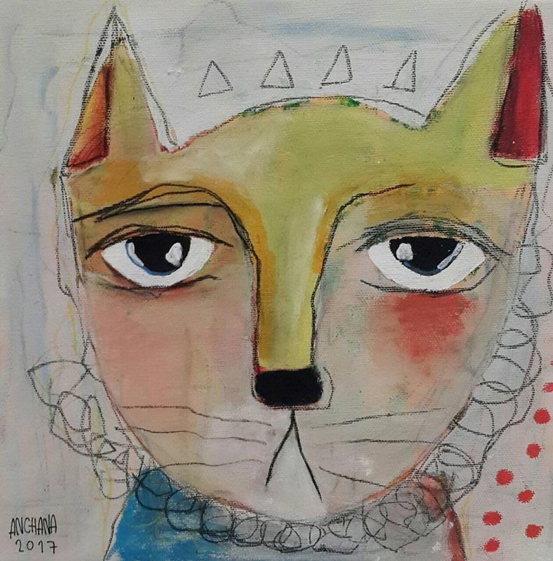 Ja - Circus cat - 25 x 25 - 09