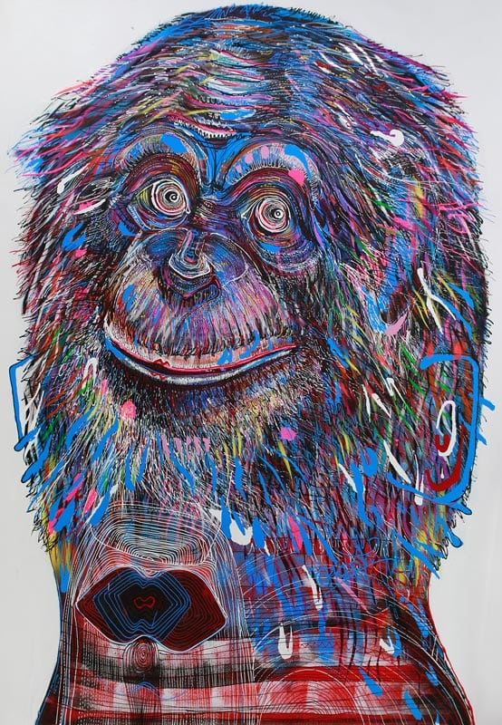 Jakkrit - Monkey Head - 120 x 170 - 35