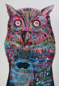 Jakkrit - Owl Head - 120 x 170 - 35