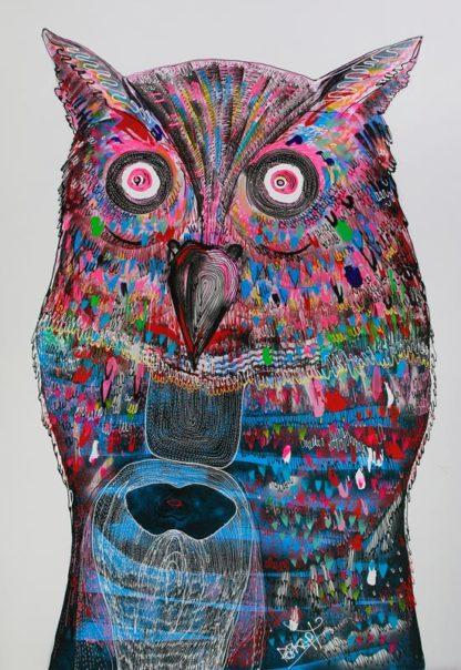 Jakkrit - Owl Head - 120 x 170 - 35