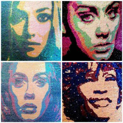 Boat - Collage Portrait - 4 X 50 x 50 CM - 25